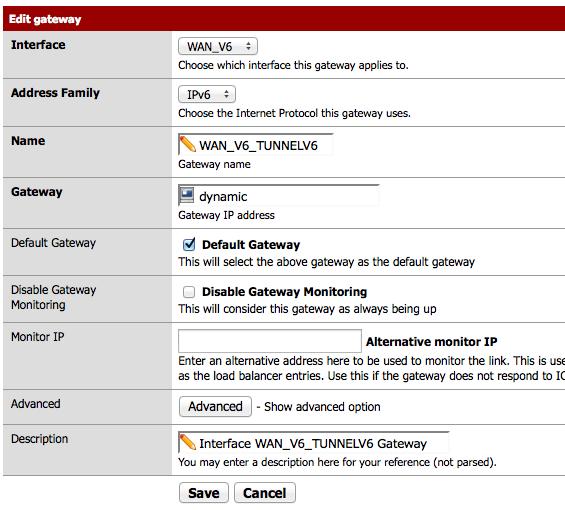 Route par défaut IPv6